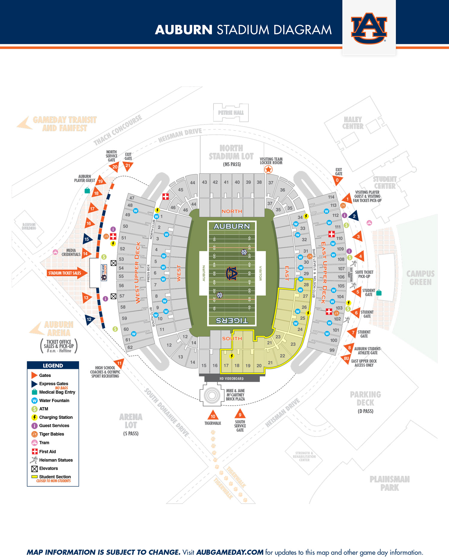 Get Tickets To Auburn Football Seating Chart
